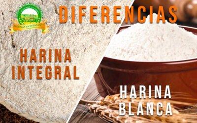 Diferencia entre la harina integral y la harina blanca