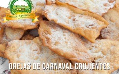 Orejas de carnaval crujientes